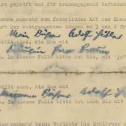 Marriage Certificate, Private Will and Political Testament of Adolf Hitler