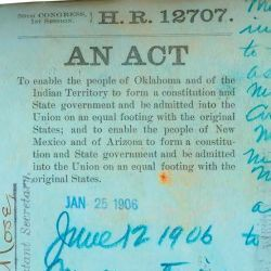 Engrossed Version of H.R. 12707, An Act to Enable the People of the Indian and Oklahoma Territories to Form a State Constitution and State Government