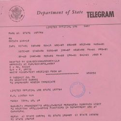 Telegram from Secretary of State Henry Kissinger to American Embassy in Moscow, Regarding President Gerald Ford