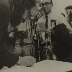 Allen Ginsberg at New York Town Hall Rally