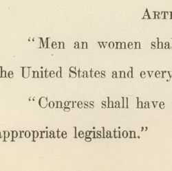 Joint Resolution Proposing an Equal Rights Amendment
