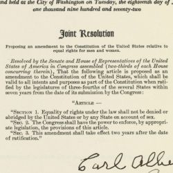 Joint Resolution Proposing the Equal Rights Amendment