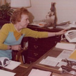 Picture of Rose Mary Woods in Her Office