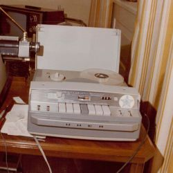 Exhibits 70–72, Photographs of Tape Recorder and Typewriter
