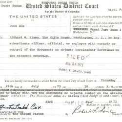 Grand Jury Subpoena to Richard M. Nixon to Testify and Bring Documents