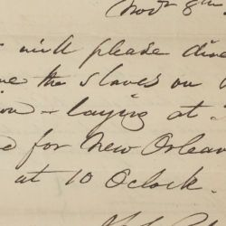 Declarations for Ship Reports Regarding Slaves on Board