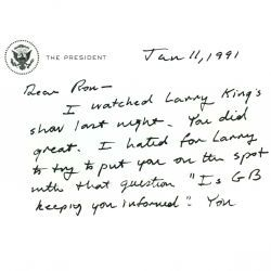Letter from President George H. W. Bush to Ronald Reagan
