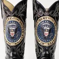 Cowboy Boots Made by Tony Lama for President George H. W. Bush