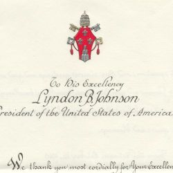 Letter from the Pope to President Johnson