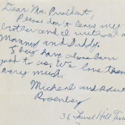 Letter from Michael Rosenberg to President Dwight Eisenhower