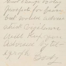 Letter Relating to Peace Prospects at Wounded Knee