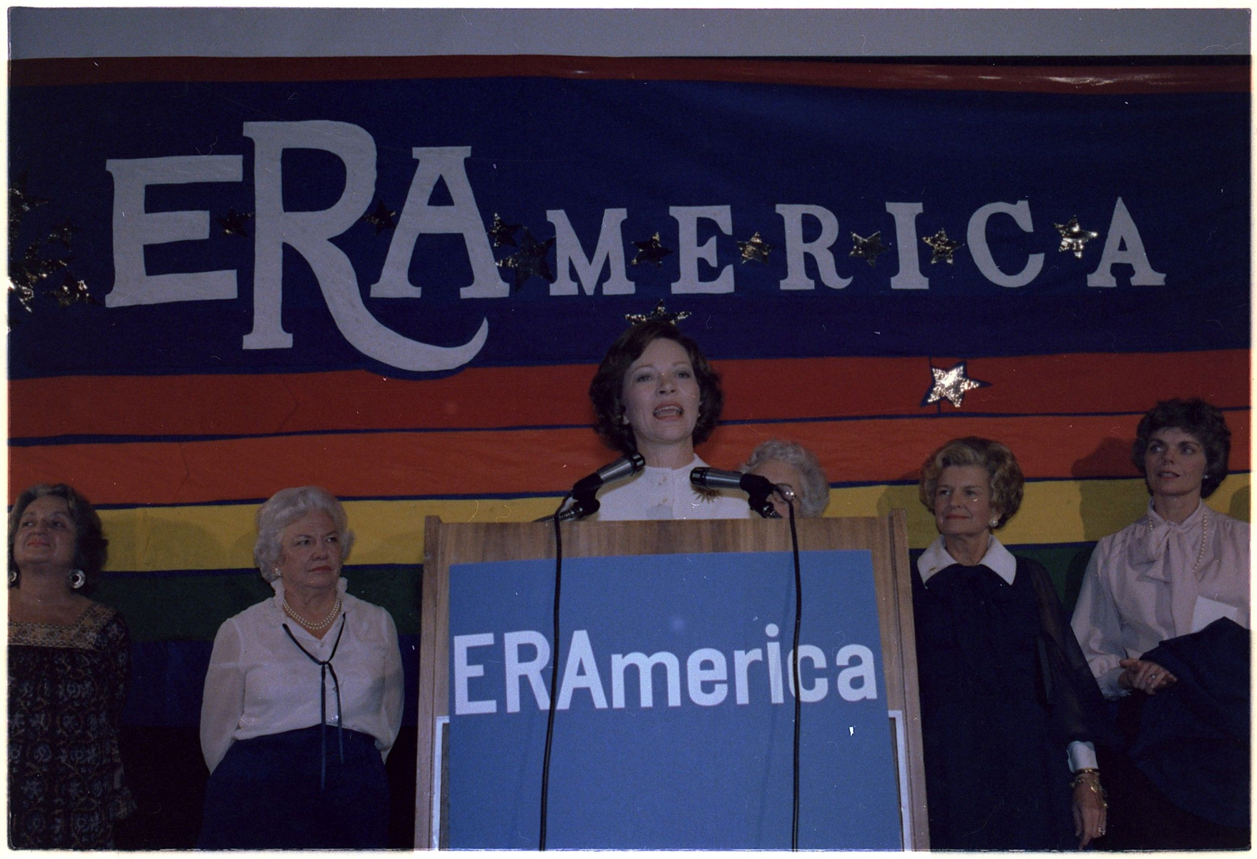 Rosalynn Carter Speaks at the National Women