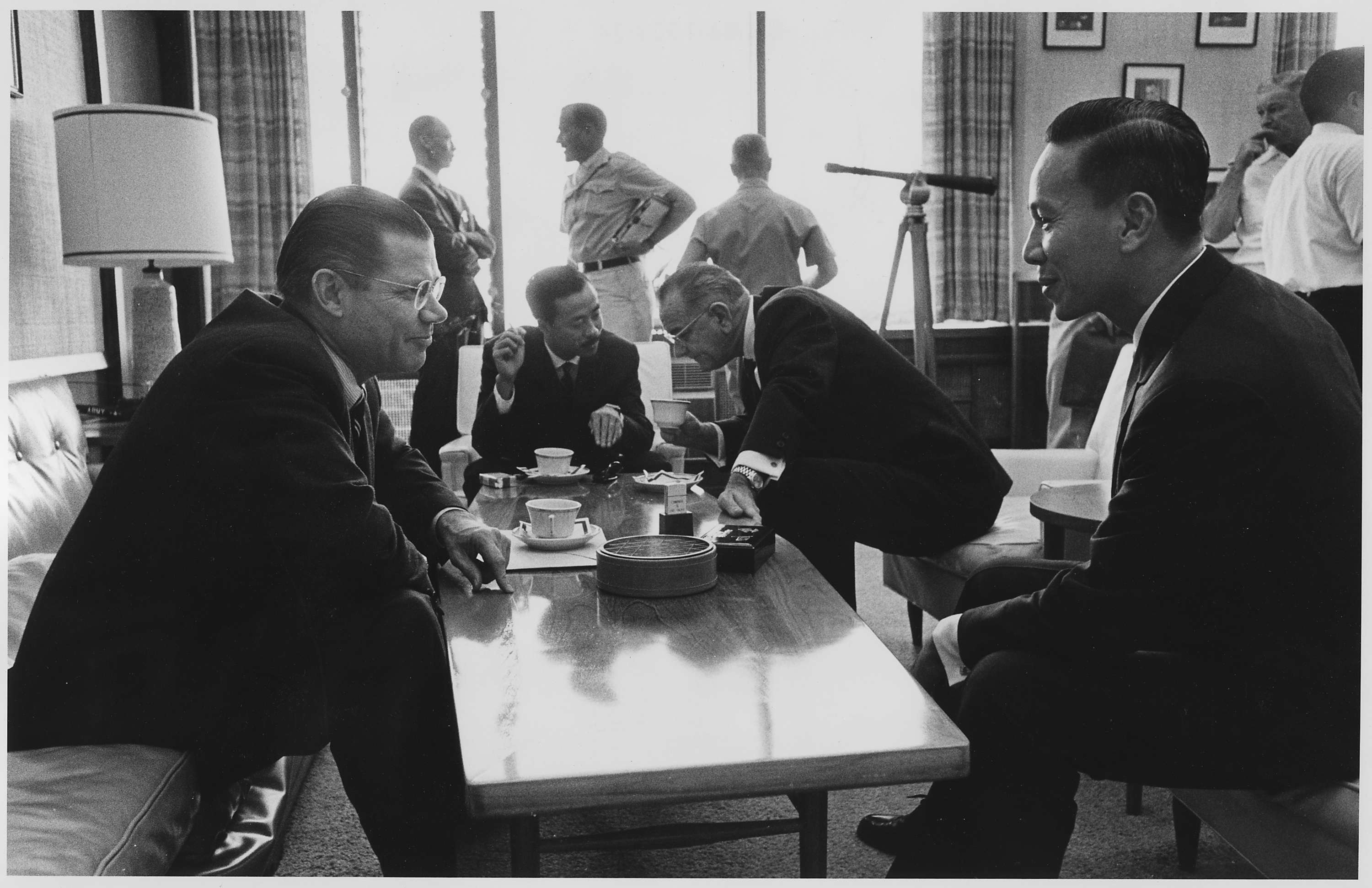 Honolulu Conference: Secretary of Defense McNamara, Prime Minister Ky, President Johnson and Lieutenant General Van Thieu