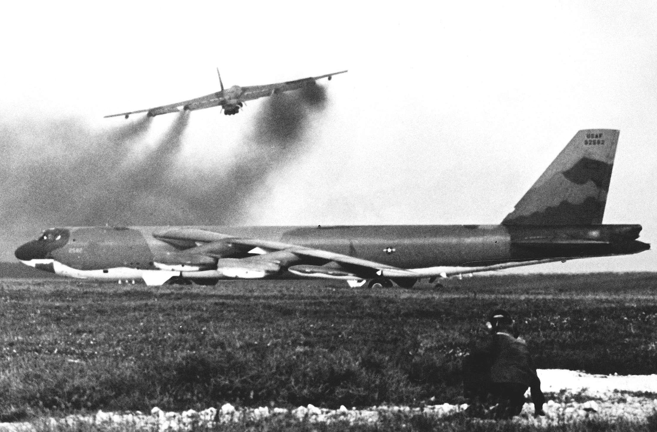 Stratofortress Aircraft Take Off for Bombing Missions