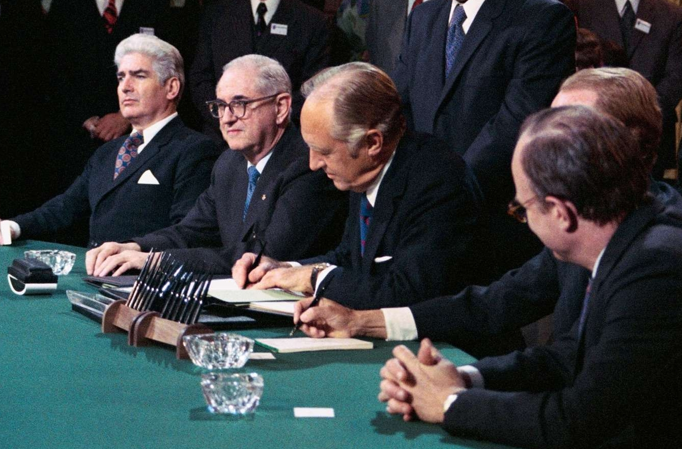 Secretary of State William Rogers Signing the Vietnam Peace Agreements