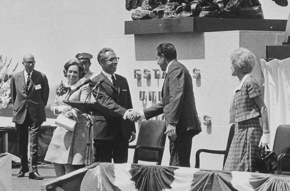 President Nixon Shaking Hands with the President of Mexico