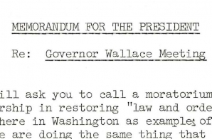 Memo from the Attorney General to President Johnson