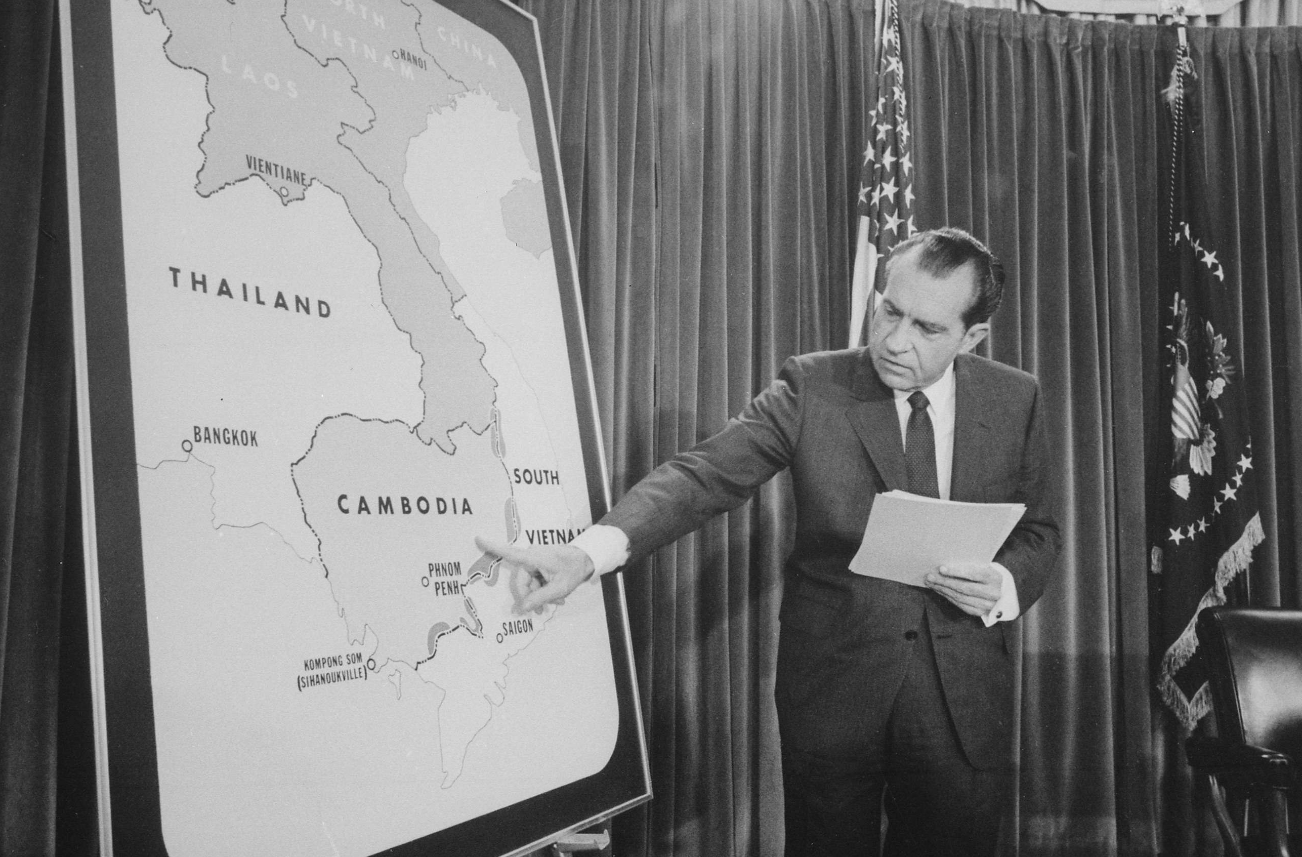 President Richard Nixon During a Vietnam War Press Conference