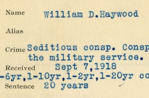 Record Sheet for William Haywood