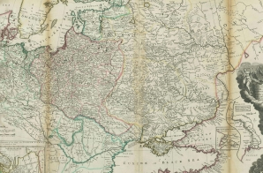 Map of Moscovy, Poland, Little Tartary and the Black Sea from the Moll Atlas