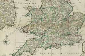 A New Map of Great Britain from the Moll Atlas