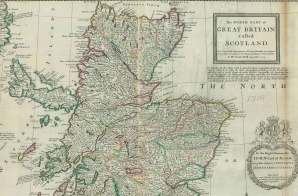 Map of Scotland from the Moll Atlas
