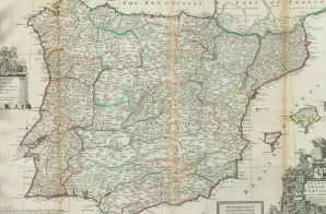 Map of Spain and Portugal from the Moll Atlas