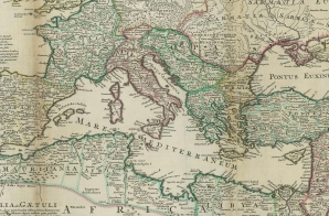Map of the Roman Empire from the Moll Atlas