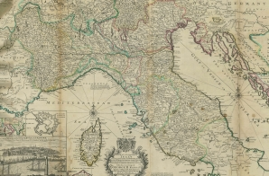 Map of Italy from the Moll Atlas