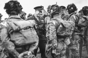 General Eisenhower Giving Orders to Paratroopers