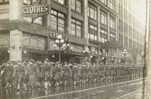 The 39th Regiment Headed to France Marched Through Seattle, Washington