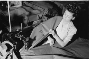 Woman Fabricates Pup Tents