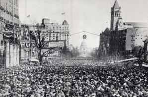 View of the Woman Suffrage Parade from the Willard Hotel