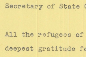 Telegram from Passengers on the SS Quanza to Secretary of State Hull