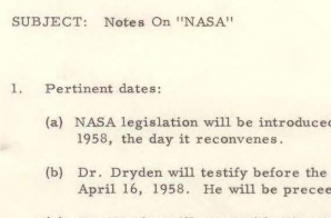 Notes on NASA