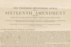 Ten Thousand Petitioners Appeal for a Sixteenth Amendment