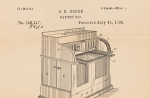 Patent Drawing for a Cabinet Bed