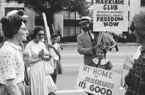 Protesters from the Interracial Marriage Club
