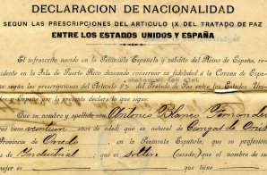 Declaration of Antonio Blanco Fernandes Who Retained Spanish Citizenship