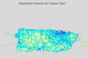 Population Density of Puerto Rico by Census Tract