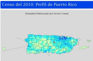 Population Density of Puerto Rico by Census Tract (Spanish)