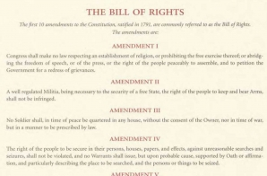 The Bill of Rights, Printed Copy