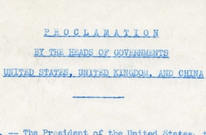 Proclamation by the Heads of Governments of the United States, United Kingdom, and China for Japan