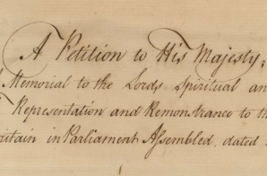 Petition from New York Assembly to His Majesty, George III