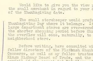 Letter from Charles Arnold to FDR about Thanksgiving date change