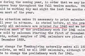 Letter from John Taylor to FDR about Thanksgiving date change