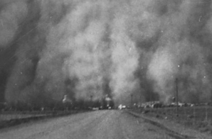"Dust Storms; ""Kodak view of a dusk storm Baca Co., Colorado, Easter Sunday 1935""; Photo by N.R. Stone"