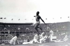 Jesse Owens at the 1936 Olympics in Berlin, Germany