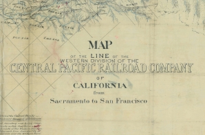 Map of the Western Division of the Central Pacific Railroad Company