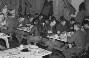 Officers Eating Thanksgiving Dinner at Alexai Point Airbase